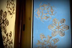 Star Wars Schneeflocken aus Papier als Fensterdeko DIY
