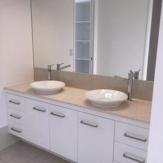 Sunshine cove Maroochydore. #bathroom #custom #kitchen #hishers #silestone…