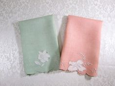 Madeira Linens Pair Vintage Guest Towels by VintageLinens on Etsy