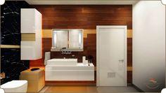 #Bathroom #Home #Luxury #Artistry #Interiors #InteriorDesign #Art #Orange #White #Warm #Modern #Design