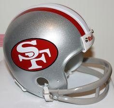 2b30f1cca8c 1962 - 1963 San Francisco 49ers Custom Throwback Riddell Mini Helmet San  Francisco 49ers