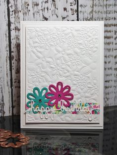 Hello friends   It's Friday Die Day and today I'm featuring Floral.  This is one of the Spellbinders® decorative card front dies.  Therear...