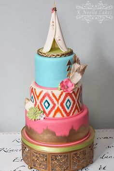 Boho Chic birthday cake by K Noelle Cakes