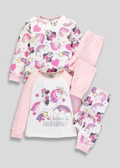 6e96982e6e7a Kids 2 Pack Disney Minnie Mouse Pyjamas (3mths-5yrs) – Pink