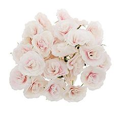 50pcs Künstliche Seide Rosen Blütenköpfe Blumen-Köpfe Hochzeit Parteidekor Bulk - Rosa