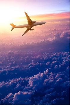 Flying Plane With Clouds from $34.99 | www.wallartprints.com.au #TransportPictures