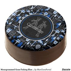 Shop Monogrammed Gone Fishing Blue Pattern Chocolate Covered Oreo created by ManCavePortal. Cookie Icing, Oreo Cookies, Ricotta Cake, Chocolate Dipped Oreos, Oreo Pops, Cookie Gifts, Gone Fishing, Lemon Recipes, Cake Tins