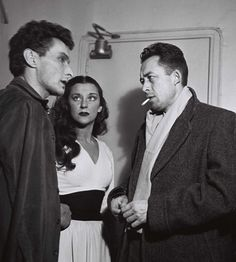 Jean-Louis Barrault, Maria Casares and Albert Camus in Paris, France, October 1948.