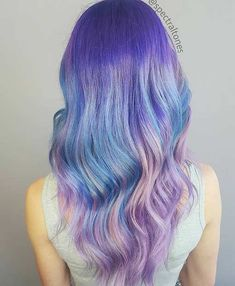 Blue and Purple Hair