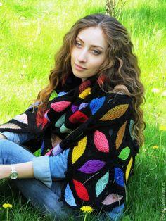 """Купить Шаль """"Марди Гра"""" - оригинальный аксессуар, осенний аксессуар, подарок для женщины, шаль купить"""