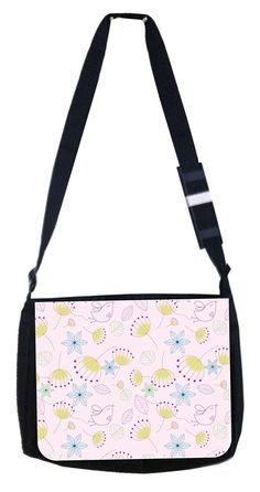 Little angel bird print Rosie Parker Inc. TM Medium Sized Messenger Bag 11.75' x 15.5' and 4.5' x 8.5' Pencil Case SET ** You can find more details by visiting the image link. (This is an Amazon Affiliate link and I receive a commission for the sales)