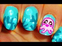 Cute Octopus Nail Art