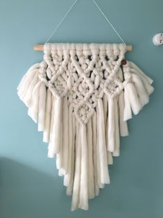 macrame wall hanging merino wool macrame wandhanger wol