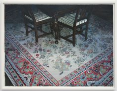 Receptionroom #3 (Carpet) - 113x150cm Gouache, Dutch, Bohemian Rug, Carpet, Van, Contemporary, Rugs, Painting, Home Decor