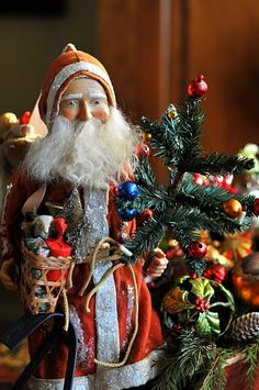 My Santa collection is extensive. Hey, I've been at this hobby for 25 years also, so cut me a little slack! Meaning Of Christmas, Merry Christmas To All, Victorian Christmas, Primitive Christmas, Father Christmas, Little Christmas, All Things Christmas, Vintage Christmas, Christmas Holidays
