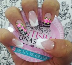 Coffin Nails, Acrylic Nails, Pretty Nail Designs, Cute Nail Art, Shellac, Manicure And Pedicure, White Nails, Spring Nails, Beauty And The Beast