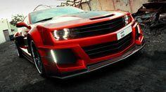 6th Generation Chevrolet Camaro 2016 red color exterior
