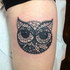 Lacy owl tattoo  !!! Instagram photo by @Yasmine El-Moursi Anderson (yazzyfizzle808)   Statigram