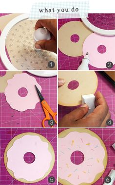 Super Simple Donut Valentines How to make a simple donut Valentine Donut Birthday Parties, Donut Party, Birthday Party Themes, 2nd Birthday, Donut Decorations, Birthday Decorations, Diy For Kids, Crafts For Kids, Dad Crafts