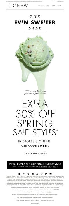 #newsletter J.Crew 06.2014 Let's sweeten this sale, shall we?