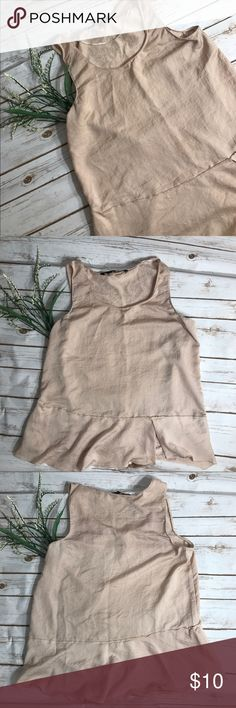 Women's Zara pink mauve Sleeveless Blouse Chic Zara top. Light and airy size small. Good condition Zara Tops Blouses