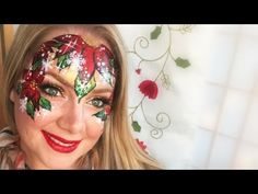 Poinsettia Makeup and Face Painting - YouTube