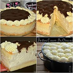 boston cream pie cheesecakes