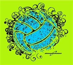 Volleyball perfect for a tshirt!