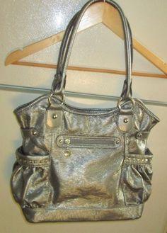 Kathy Van Zeeland Gray Handbag Purse