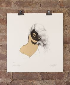 'Golden Lady' the limited edition artwork by artist Miss Van. We just bought from Nelly Duff.