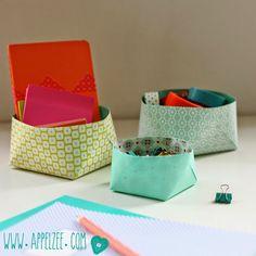 Opgeruimd staat netjes: doosjes van papier - Organise your desk with DIY paper boxes