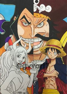 One Piece World, One Piece Fanart, One Piece Luffy, Sketch Inspiration, Anime, Fan Art, Naruto, Fictional Characters, Shit Happens