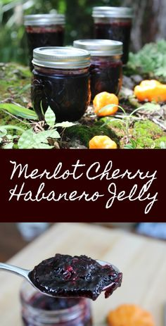 This Merlot Cherry Habanero Jelly is a bit spicy and a bit sweet, making it absolutely delicious. Make a batch of this Merlot Cherry Habanero Jelly today! Jelly Recipes, Jam Recipes, Canning Recipes, Habanero Recipes, Canning Tips, Cooker Recipes, Dinner Recipes, Pepper Recipes, Cocktail Recipes