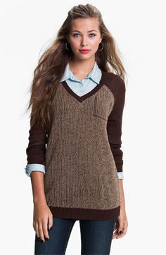 BP. Baseball Sweater (Juniors) available at #Nordstrom. In grey and black. $44.00