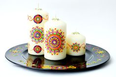 Rainbow Drops - Henna Candles