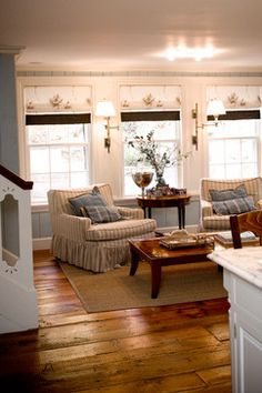 Bedford, NH Farmhouse Kitchen - traditional - Family Room - Manchester NH - LKM Design