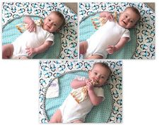 I decided that Ruby needed a changing pad the other day. One that could fit easily in my diaper bag and hold a diaper and a few things. I also wanted something that was large enough to lay out and …
