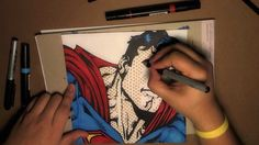 Pop Art Drawing - SUPERMAN [Bleebo ART]
