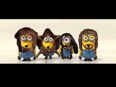 Minions singing Far Over the Misty Mountains.