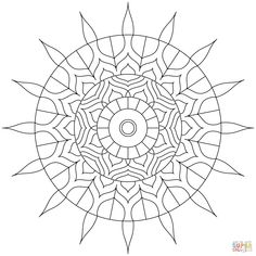 Hindu Mandala coloring page from Simple mandalas category. Select from 29062 printable crafts of cartoons, nature, animals, Bible and many more.
