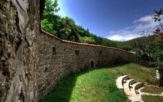 The walls of Kulla of Isa Boletin. Kosovo