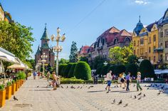 TIMISOARA, ROMANIA, JULY Victory square - piata victoriei - timisoara is a long square with green park surrounded by national opera on one side and the metropolitan cathedral on the other. Native American History, American Civil War, Romanian Revolution, Timisoara Romania, Visit Romania, Romania Travel, Danube River, Beautiful Places In The World, Central Europe