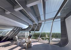 Library and Learning Centre in Vienna [http://www.campuswu.at/en/info/architekturen/lc/] by Zaha Hadid Architects [http://www.zaha-hadid.com/architecture/library-learning-center/] / @Dezeen magazine | #socialspaces #lacademiclibrary #viena