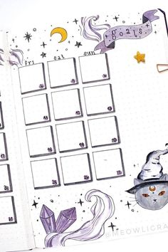 25 Best October Monthly Spread Ideas For Bujos In 2020 - Crazy Laura
