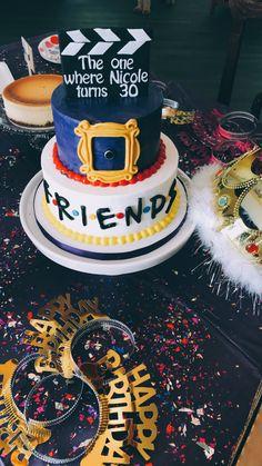 FRIENDS birthday cake // the one where they all turn 30 // birthday party - Birthday Cake Vanilla Ideen 40th Birthday Party For Women, Birthday Cake For Women Simple, 30th Birthday Themes, Friends Birthday Cake, Friends Cake, Thirty Birthday, 33rd Birthday, 30th Party, 40th Birthday Cakes