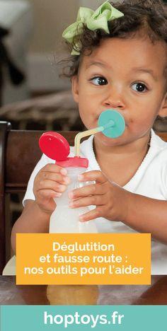 La déglutition correspond à l'acte d'avaler sa salive et de déplacer de la nourriture mâchée vers l'estomac. C'est une activité sensori-motrice physiologique, qui se produit chaque minute pour gérer la salive et des dizaines de fois pendant un repas pour assurer la nutrition et l'hydratation ! Parfois certaines personnes et/ou enfants ont des troubles de la déglutition. Pour les accompagner et les aider découvrez nos outils. Nutrition, Minute, Children, Some People, Speech Language Therapy, Activities, Disability, Diaries, Tools