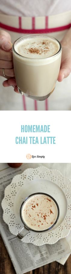 COPYCAT real food-style homemade chai latte. This is the best homemade chai latte I've ever made. So good and simple to make.