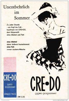 Original-Werbung/ Anzeige 1960 - CRE-DO DEODORANT - ca. 100 X 140 mm