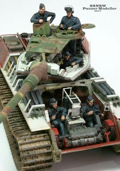 A excellent model showing the interior view and crew positions on a King Tiger