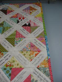 Modern Siggy Quilt - great idea for a friendship quilt